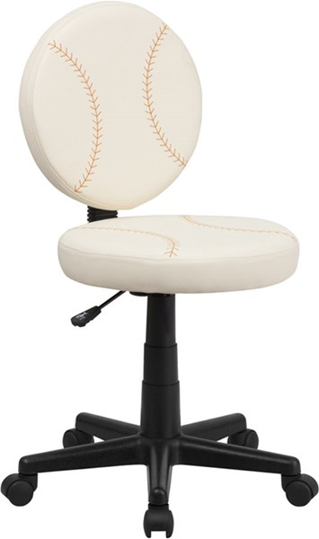 Flash Furniture Cream Vinyl Baseball Task Chair FLF-BT-6179-BASE-GG