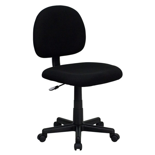 Flash Furniture Mid Back Ergonomic Black Fabric Task Chair FLF-BT-660-BK-GG