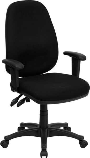 High Back Fabric Ergonomic Computer Chairs w/Height Adj. Arms FLF-BT-661-GG-VAR
