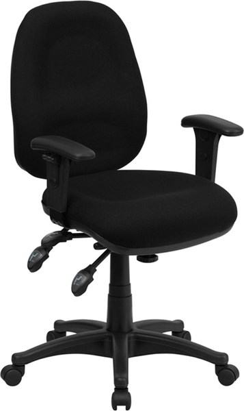 Flash Furniture Black Fabric Swivel Computer Chair FLF-BT-662-BK-GG