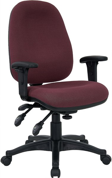 Mid-Back Burgundy Multi-Functional Fabric Swivel Computer Chair FLF-BT-662-BY-GG