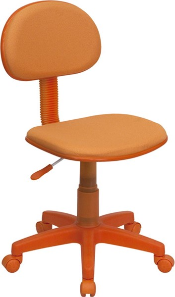 Flash Furniture Orange Fabric Metal Plastic Ergonomic Task Chair FLF-BT-698-ORANGE-GG