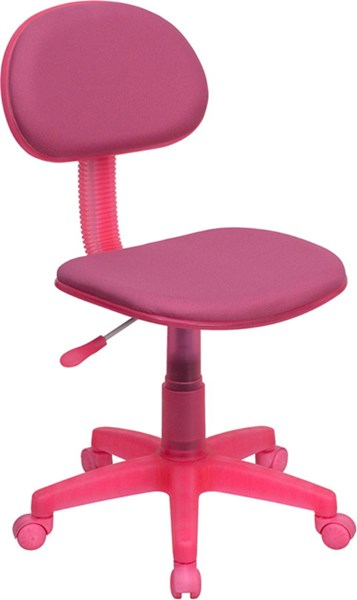 Flash Furniture Pink Fabric Metal Plastic Ergonomic Task Chair FLF-BT-698-PINK-GG