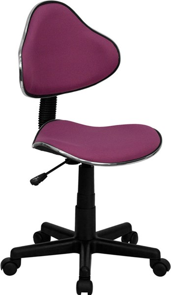 Lavender Black Fabric Metal Plastic Ergonomic Task Chair FLF-BT-699-LAVENDER-GG