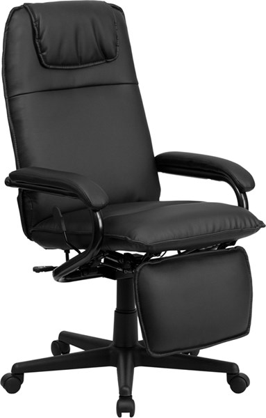 High Back Black Leather Executive Reclining Office Chair FLF-BT-70172-BK-GG
