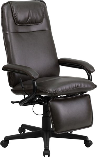 Flash Furniture Brown Leather Executive Reclining Office Chair FLF-BT-70172-BN-GG