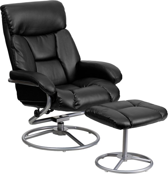 Contemporary Leather Recliners & Ottoman w/Metal Base FLF-BT-70230-GG-CHO-VAR