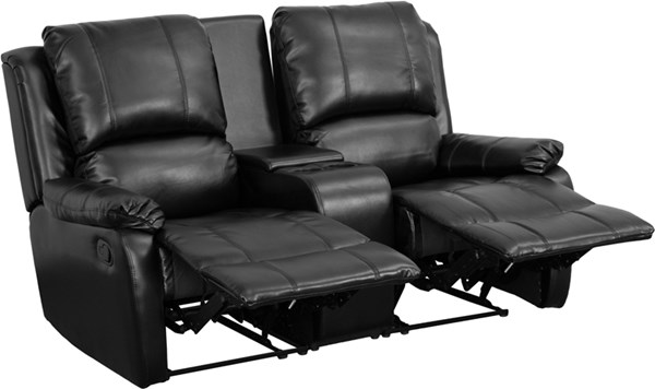 Flash Furniture Allure Black Pillow Back 2 Seat Home Theater Recliner FLF-BT-70295-2-BK-GG