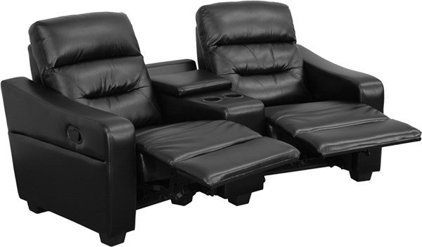 Flash Furniture Futura Black 2 Seat Reclining Theater Seating Unit FLF-BT-70380-2-BK-GG