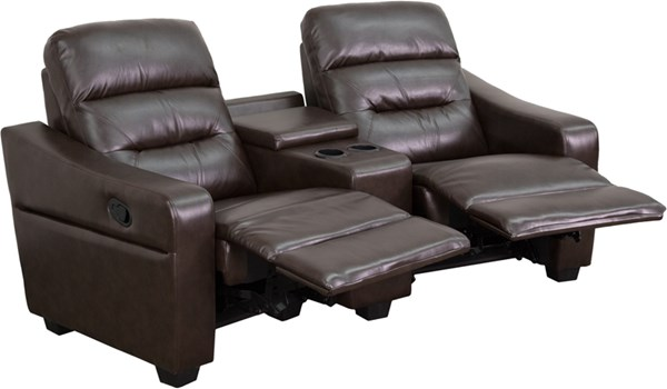 Flash Furniture Futura Brown 2 Seat Reclining Theater Seating Unit FLF-BT-70380-2-BRN-GG
