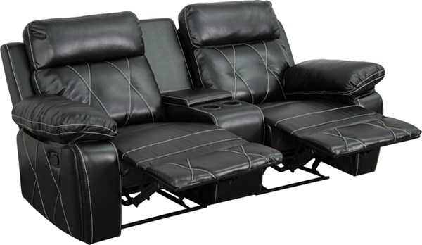 Reel Comfort Straight Cup Holders 2-Seat Reclining Theater Unit FLF-BT-70530-2-GG-SF-VAR