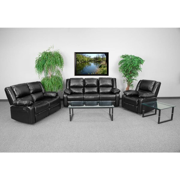 Flash Furniture Harmony Black 3pc Reclining Sofa Set FLF-BT-70597-RLS-SET-GG