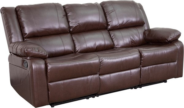 Flash Furniture Harmony Brown Leather Recliner Sofa FLF-BT-70597-SOF-BN-GG