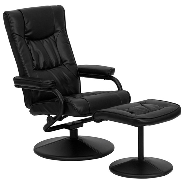 Flash Furniture Black Leather Swivel Recliner and Ottoman FLF-BT-7862-BK-GG