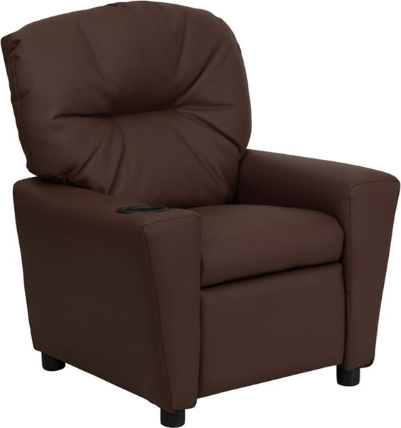 Flash Furniture Brown Leather Kids Recliner with Cup Holder FLF-BT-7950-KID-BRN-LEA-GG