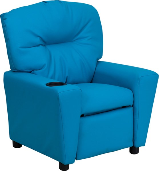 Flash Furniture Turquoise Vinyl Kids Recliner with Cup Holder FLF-BT-7950-KID-TURQ-GG