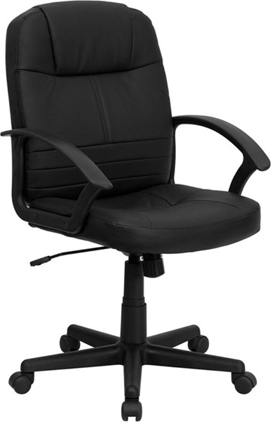 Flash Furniture Black Leather Executive Swivel Office Chair FLF-BT-8075-BK-GG