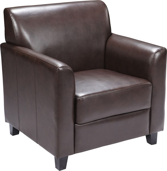 Flash Furniture Hercules Diplomat Brown Chair FLF-BT-827-1-BN-GG