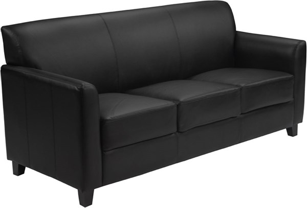Hercules Diplomat Series Contemporary Black Brown Leather Wood Sofa FLF-BT-827-sofa