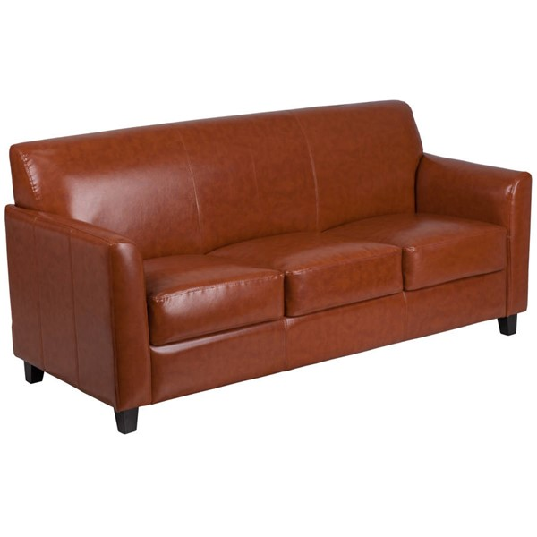 Flash Furniture Hercules Diplomat Cognac Sofa FLF-BT-827-3-CG-GG