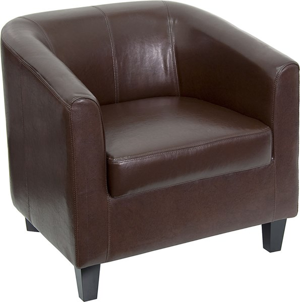 Flash Furniture Brown Leather Office Guest Chair Reception Chair FLF-BT-873-BN-GG