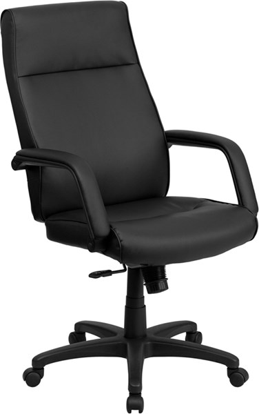 High Back Black Leather Executive Office Chair w/Memory Foam Padding FLF-BT-90033H-BK-GG
