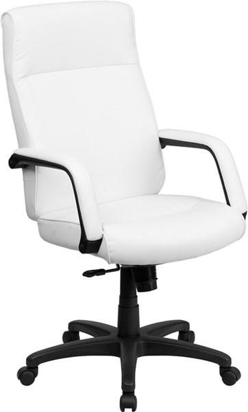 Flash Furniture High Back White Leather Executive Office Chair FLF-BT-90033H-WH-GG