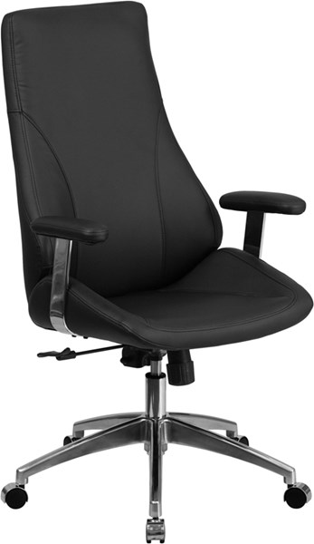 High Back Leather Executive Swivel Office Chair FLF-BT-90068H-GG-OFF-CH-VAR