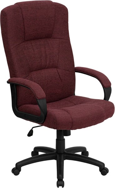 Flash Furniture Burgundy Fabric High Back Executive Office Chair FLF-BT-9022-BY-GG