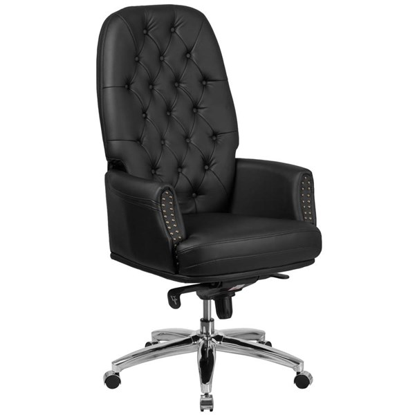 Flash Furniture Black Leather Multifunction Executive Swivel Chair with Arms FLF-BT-90269H-BK-GG