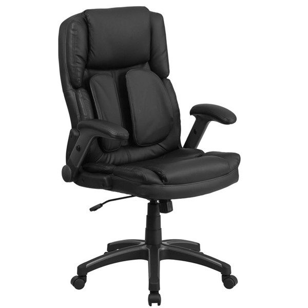 Flash Furniture Extreme Comfort High Back Black Leather Executive Swivel Office Chair FLF-BT-90275H-GG