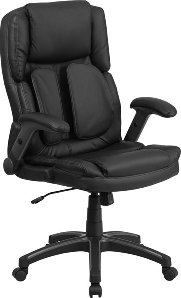 Extreme Comfort High Back Black Leather Executive Swivel Office Chair FLF-BT-90275H-GG