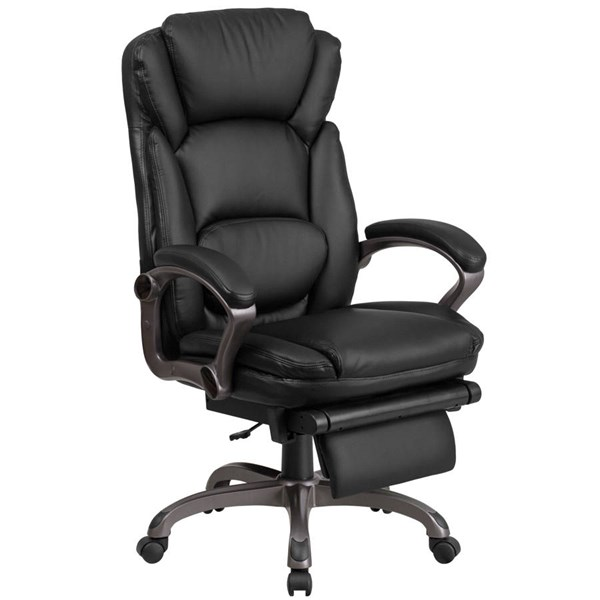 Flash Furniture Black Leather Executive Reclining Swivel Chair with Arms FLF-BT-90279H-GG