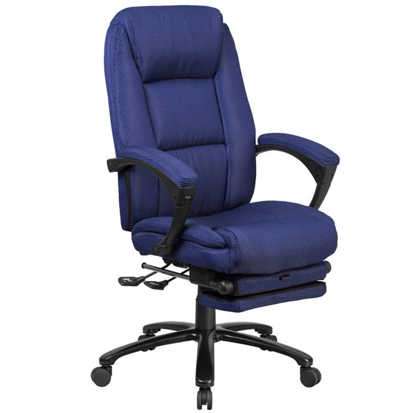 Flash Furniture Navy Fabric Executive Reclining Swivel Office Chair with Padded Armrests FLF-BT-90288H-NY-GG