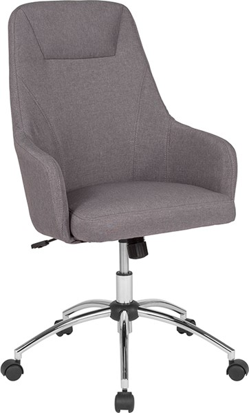 Flash Furniture Rennes Light Gray Fabric High Back Chair FLF-BT-90509H-LGY-F-GG