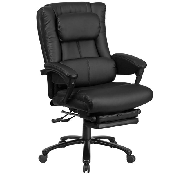 Flash Furniture Black Leather Executive Reclining Swivel Chair with Arm FLF-BT-90527H-GG