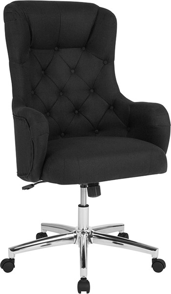 Flash Furniture Chambord Black Fabric High Back Chair FLF-BT-90557H-BLK-F-GG