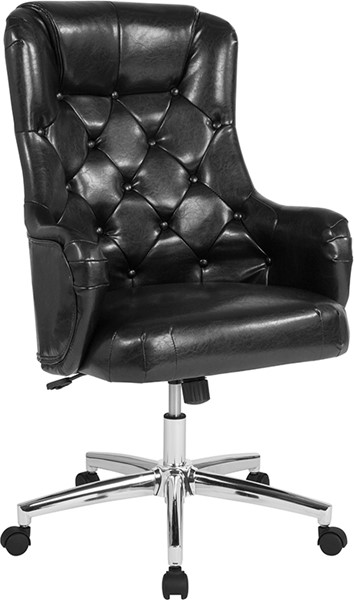 Flash Furniture Chambord Black Leather High Back Chair FLF-BT-90557H-BLK-GG
