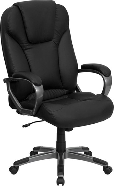 Flash Furniture Black Leather High Back Office Chair with Arms FLF-BT-9066-BK-GG