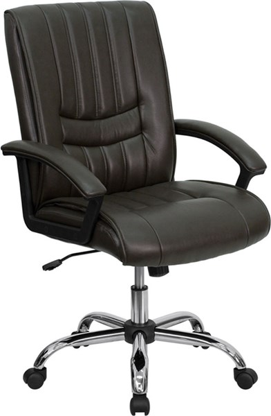 Flash Furniture Brown Leather Managers Chair FLF-BT-9076-BRN-GG