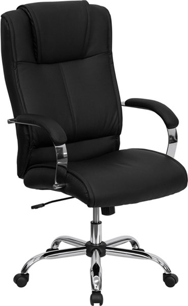 Black Brown Leather Steel Wood High Back Office Chairs FLF-BT-9080-GG-VAR
