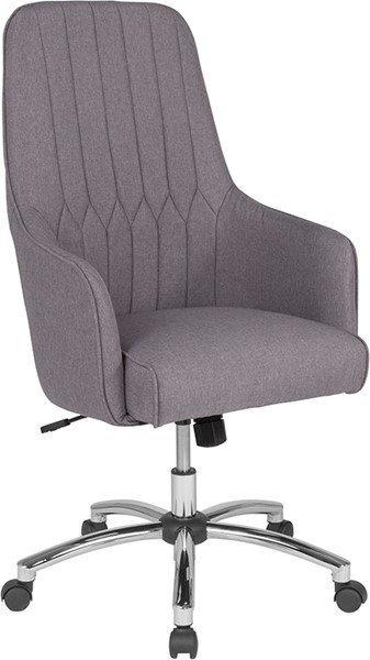 Flash Furniture Albi Light Gray Fabric High Back Chair FLF-BT-90910H-LGY-F-GG