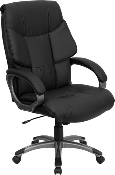 Modern Black Leather Metal Plastic High Back Executive Office Chair FLF-BT-9123-BK-GG