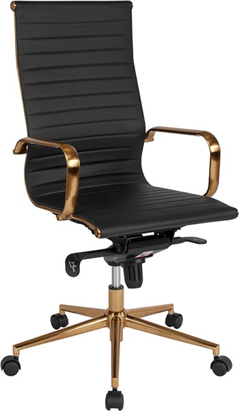 Flash Furniture Black Gold High Back Office Chair FLF-BT-9826H-BK-GD-GG