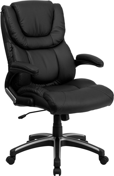 Flash Furniture Black Leather High Back Executive Office Chair with Arms FLF-BT-9896H-GG