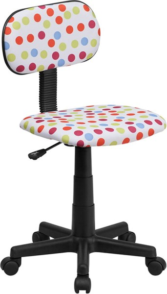 Red White Blue Dot Printed Adjustable Height Computer Chair FLF-BT-D-MUL-GG