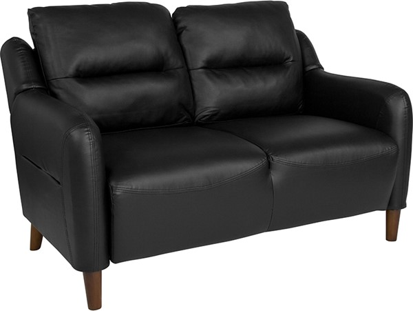 Flash Furniture Newton Hill Black Leather Loveseat FLF-BT-S8372A-LV-BK-GG