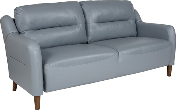 Flash Furniture Newton Hill Gray Leather Sofa FLF-BT-S8372A-SF-GRY-GG
