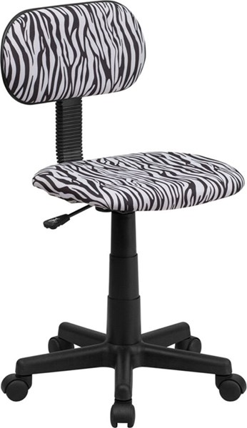 Flash Furniture Black White Zebra Print Computer Chair FLF-BT-Z-BK-GG