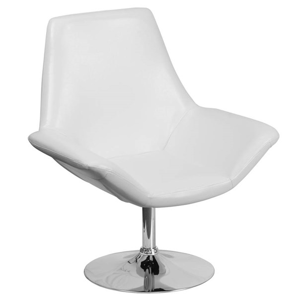 Flash Furniture Hercules Sabrina White Side Reception Chair FLF-CH-102242-WH-GG